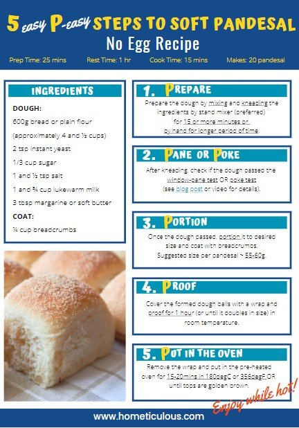 5 P Easy Steps to Soft Pandesal Poster